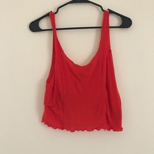 URBAN OUTFITTERS RED CROP TOP